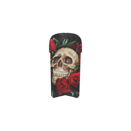 Skull with Flower Martin Boots For Women Model 1203H