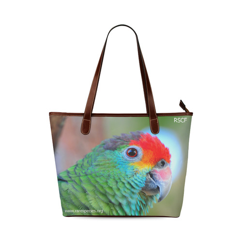 Red Brow Tote Shoulder Tote Bag (Model 1646)