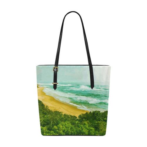 Modern Impressionist Beach Landscape Euramerican Tote Bag/Small (Model 1655)