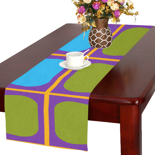 Shapes in squares pattern34 Table Runner 16x72 inch
