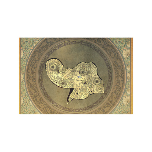 Mandala of cute elephant Placemat 12''x18''