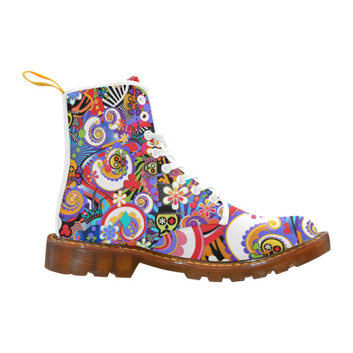 Fun Sugar Skull Colorful Boots by Juleez Martin Boots For Women Model 1203H