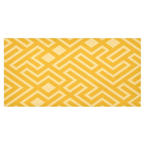 "Gold Mosaics Cotton Linen Tablecloth 60""x120"""