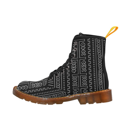 Black and Gray Mudcloth Pattern Martin Boots For Men Model 1203H