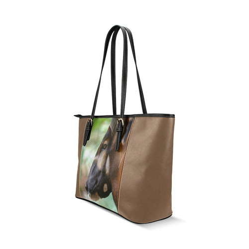 Merlin Leather Tote Leather Tote Bag/Large (Model 1640)