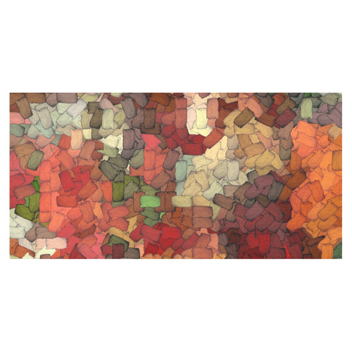 "Autumn inspired torn scrapes 2492 Cotton Linen Tablecloth 60""x120"""