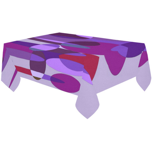 """Purple and Red Spheres Cotton Linen Tablecloth 60""""x120"""""""