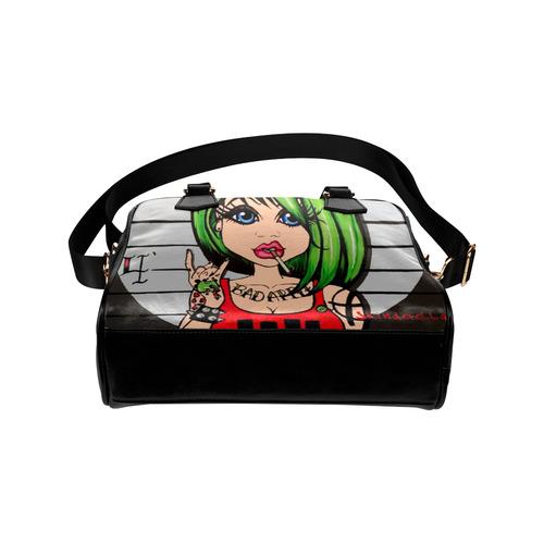 Bad Apple by Skinderella Shoulder Handbag (Model 1634)