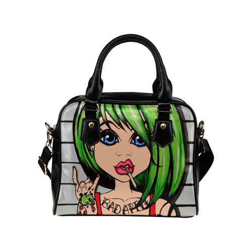 Bad Apple by Skinderella Shoulder Handbag (Model 1634)
