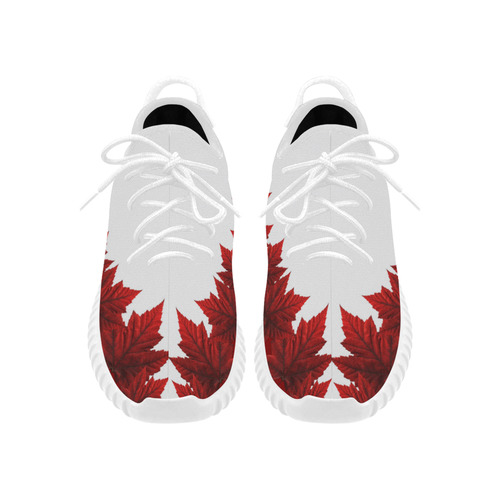 Canada Maple Leaf Running Shoes Women's Grus Women's Breathable Woven Running Shoes (Model 022)