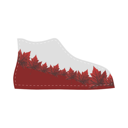Canada Maple Leaf Kid's Sneakers High Top Canvas Kid's Shoes (Model 013)