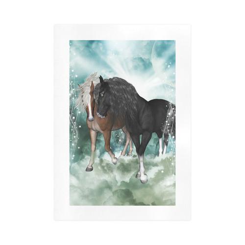 The wonderful couple horses Art Print 16''x23''