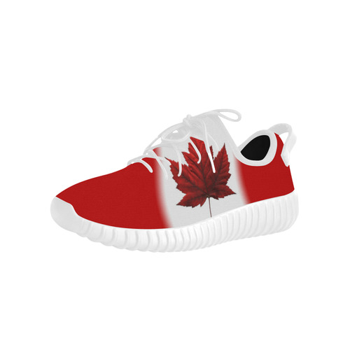 Canada Flag Running Shoes Men's Grus Men's Breathable Woven Running Shoes (Model 022)