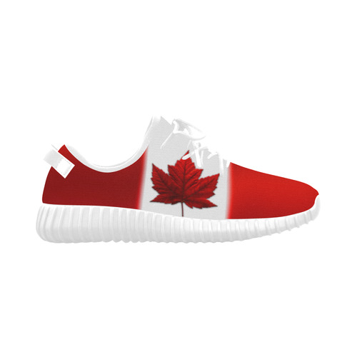 Canadian Flag Running Shoes Women's Grus Women's Breathable Woven Running Shoes (Model 022)