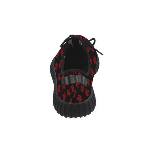 Women's Cool Canada Shoes Black and Red Grus Women's Breathable Woven Running Shoes (Model 022)
