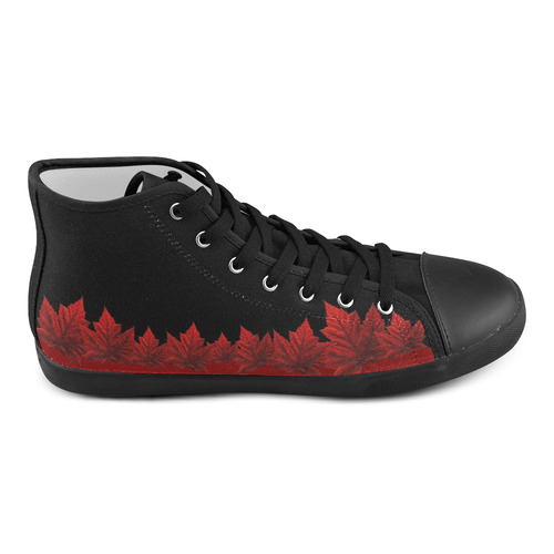 Canada Maple leaf Kid's Sneakers High Top Canvas Kid's Shoes (Model 002)
