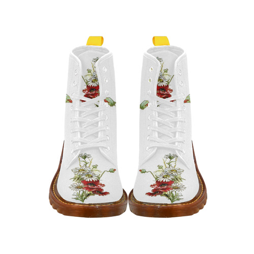 Vintage Floral Daisies Poppies I Martin Boots For Women Model 1203H