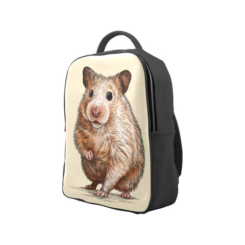 engrave hamster Popular Backpack (Model 1622)