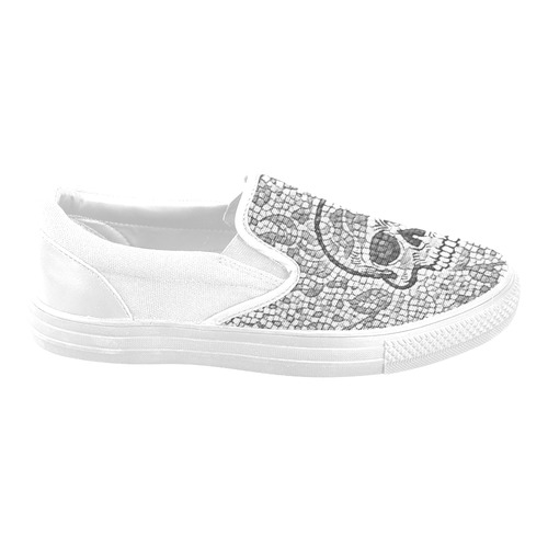 789c4a58043 Mosaic Skull with Snake B by JamColors Women s Unusual Slip-on Canvas Shoes  (Model 019)