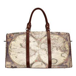 Old world map canvas bag gifts artsadd old world map waterproof travel bagsmall model 1639 gumiabroncs Choice Image