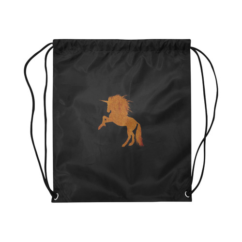 "sparkling unicorn cognac by JamColors Large Drawstring Bag Model 1604 (Twin Sides)  16.5""(W) * 19.3""(H)"