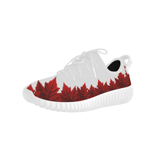 Canada Maple Leaf Running Shoes Men's Grus Men's Breathable Woven Running Shoes (Model 022)