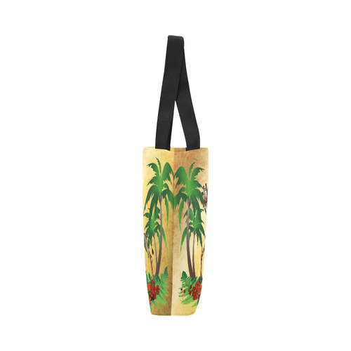 Cute giraffe with palm Canvas Tote Bag (Model 1657)