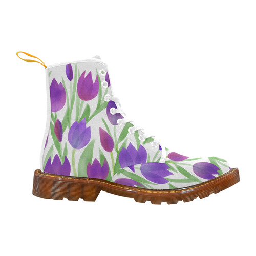 Purple Tulips. Inspired by the Magic Island of Gotland. Martin Boots For Women Model 1203H