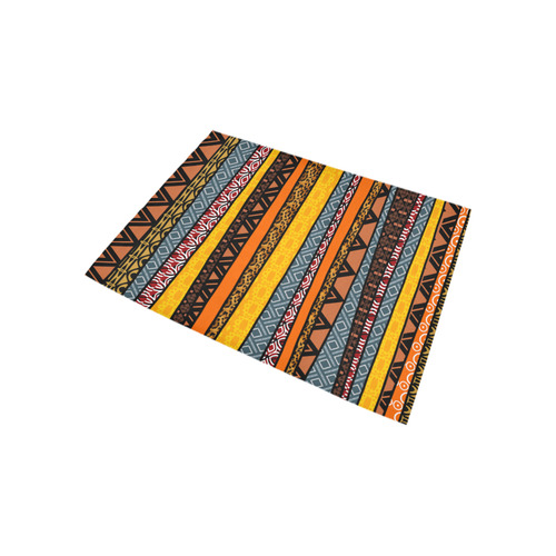 African Tribal Pattern Mix Area Rug 5'3''x4'