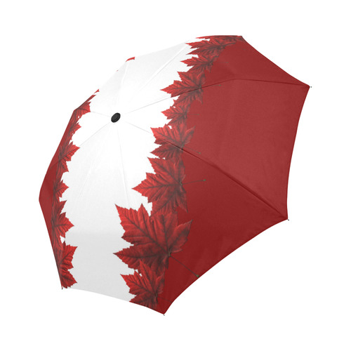 Canada Maple Leaf Umbrellas Red & White Auto-Foldable Umbrella