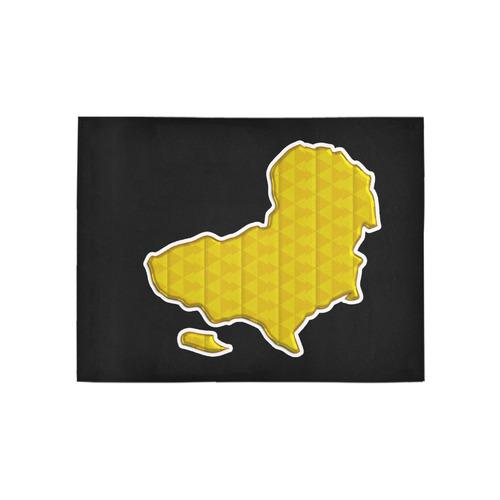 Golden Africa Area Rug 5'3''x4'