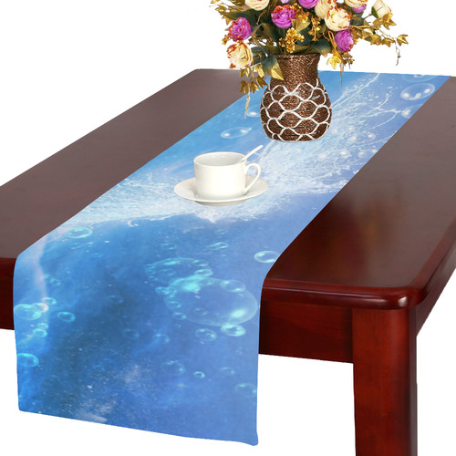 The water bird over the sea Table Runner 16x72 inch
