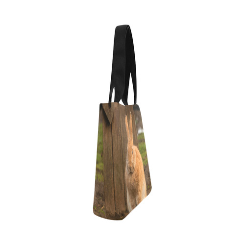 Country Bunny Canvas Tote Bag (Model 1657)