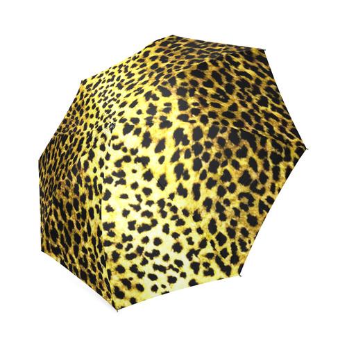 Leopard Wallpaper Print Foldable Umbrella (Model U01)