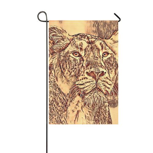 Animal ArtStudio Amazing Lion by JamColors 2 Garden Flag 12''x18''(Without Flagpole)