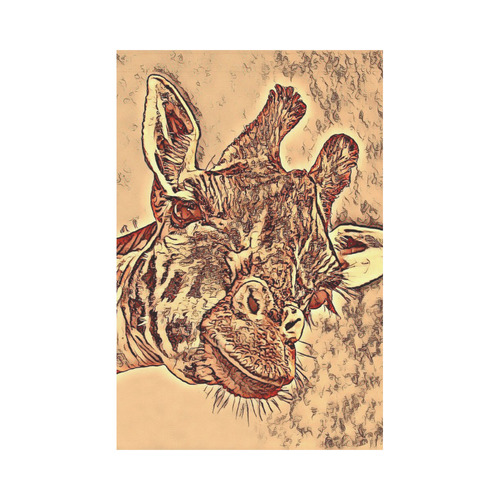 Animal ArtStudio Amazing Giraffe by JamColors Garden Flag 12''x18''(Without Flagpole)