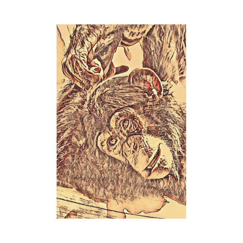 Animal ArtStudio Amazing Baby Chimp by JamColors Garden Flag 12''x18''(Without Flagpole)
