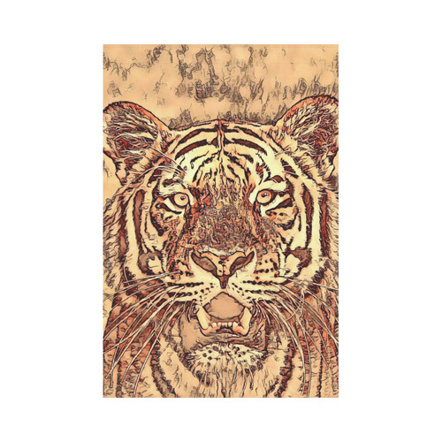 Animal ArtStudio Amazing Tiger by JamColors 3 Garden Flag 12''x18''(Without Flagpole)