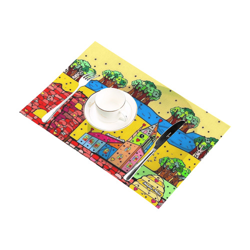 Immekath by Nico Bielow Placemat 12'' x 18'' (Six Pieces)