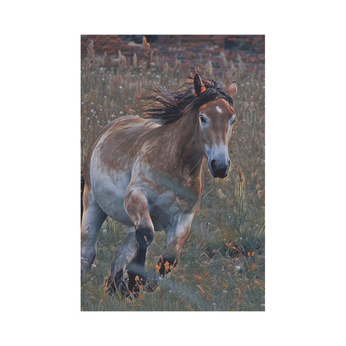 wonderful horse  by JamColors Garden Flag 12''x18''(Without Flagpole)