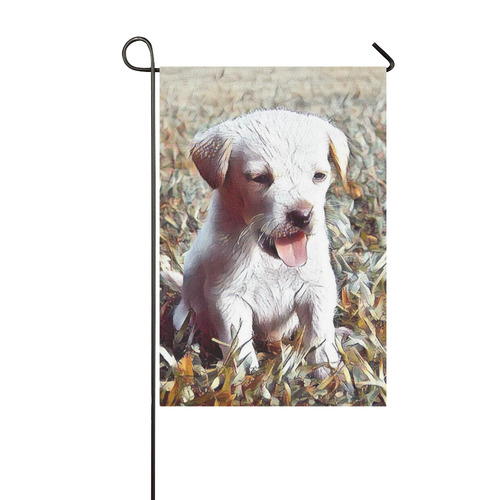 adorable puppy by JamColors Garden Flag 12''x18''(Without Flagpole)