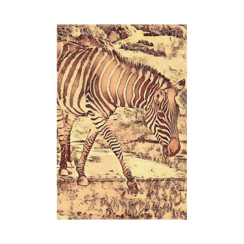 Animal ArtStudio Amazing Zebra by JamColors Garden Flag 12''x18''(Without Flagpole)