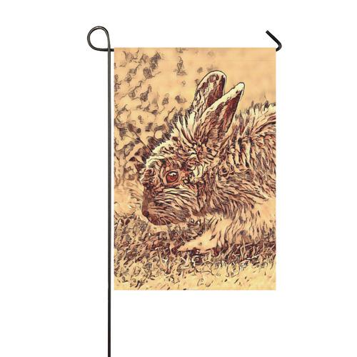 Animal ArtStudio Amazing Bunny by JamColors Garden Flag 12''x18''(Without Flagpole)