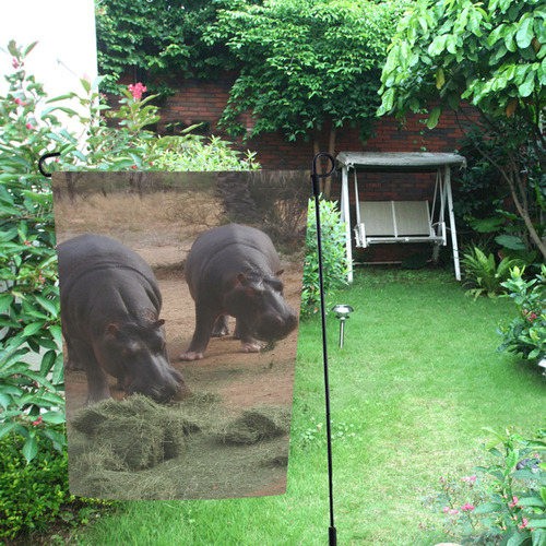 Hippos by JamColors Garden Flag 12''x18''(Without Flagpole)