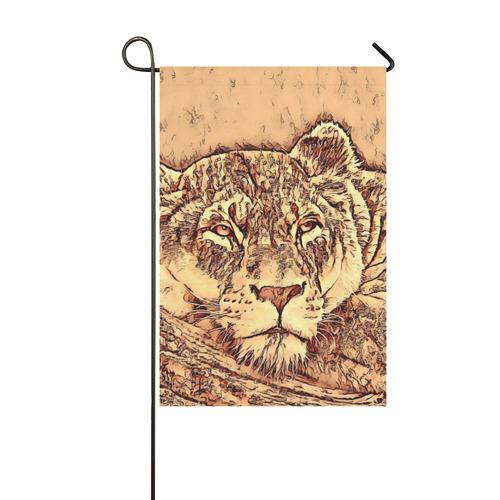 Animal ArtStudio Amazing Lion by JamColors Garden Flag 12''x18''(Without Flagpole)