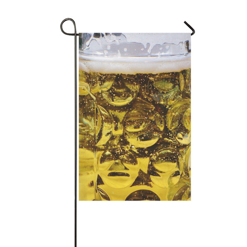 Photography - real GLASS OF BEER Garden Flag 12''x18''(Without Flagpole)