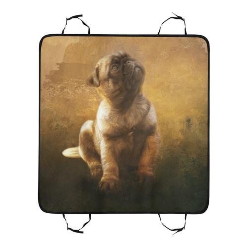 Cute painting pug puppy Pet Car Seat 55''x58''