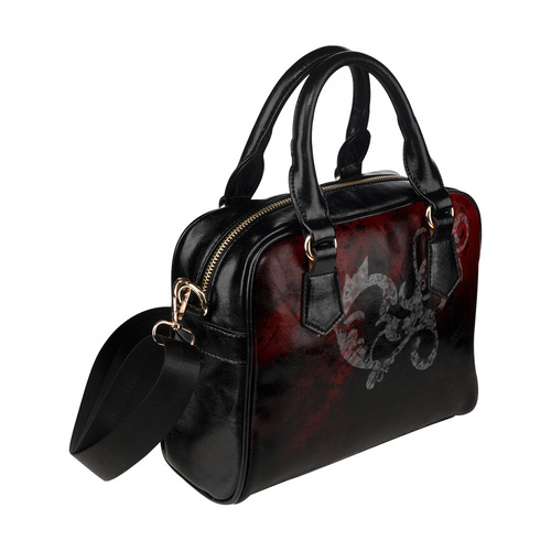 Grunge Scroll Gothic Handbag Shoulder Handbag (Model 1634)