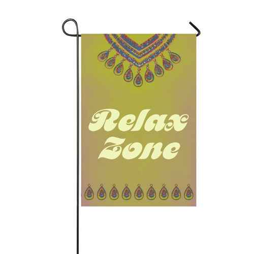 Jewelry COLLIER Blue Green Pink + Relax Zone Garden Flag 12''x18''(Without Flagpole)