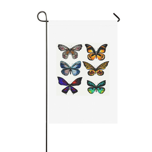 Garden Flag : with Butterflies Garden Flag 12''x18''(Without Flagpole)